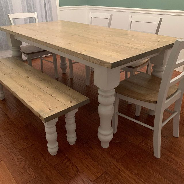 Curvy Pine Chunky Dining Legs And Pine Chunky Bench Legs Combo Etsy In 2020 Pine Dining Table Farmhouse Dining Room Table Pine Dining Room