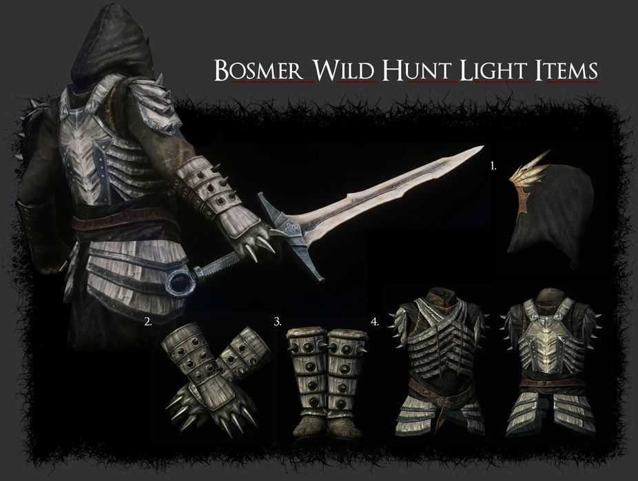Bosmer Armor Pack At Skyrim Nexus Mods And Community Skyrim Armor Sets Skyrim Skyrim Light Armor