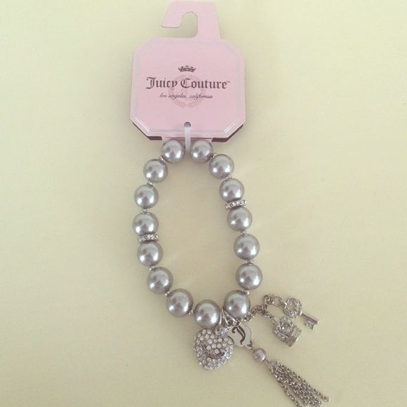 Juicy Couture Gray Pearl Charm Bracelet Part Of S Collection At Kohl Department