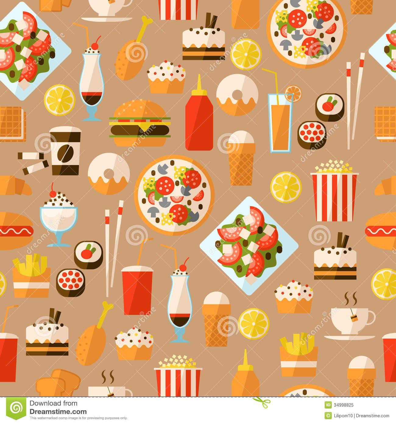Food Pattern Wallpaper Tumblr