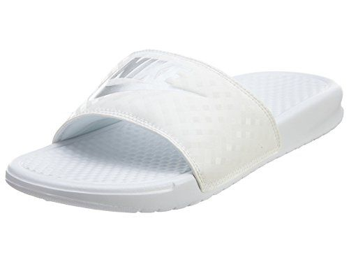buy popular bab46 8edef Bought🠸 Nike Benassi JDI Slide Women s Sandals 343881-102 White M .