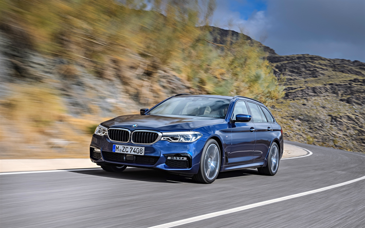 Download Wallpapers Bmw 5 Series Touring M Sport G31 2018 530d Xdrive Exterior Front View New Blue Station Wagon Blue M5 German Cars Bmw Besthqwallpap Bmw Bmw 5 Series Bmw Touring