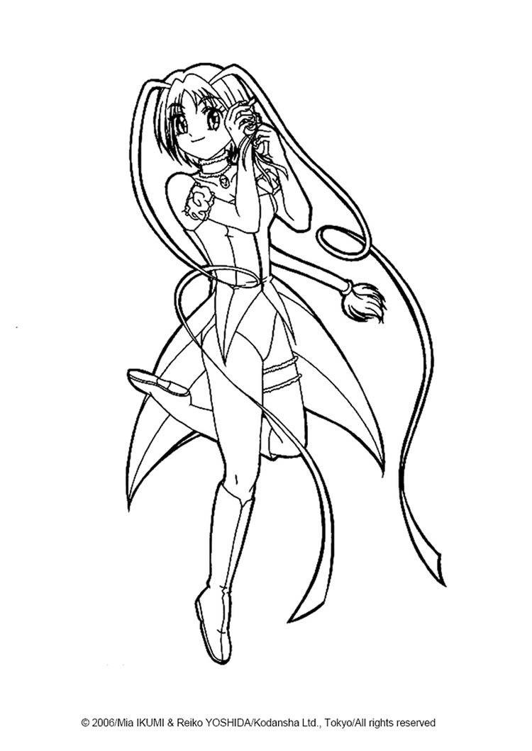 Ichigo Momomiya picture coloring page ore Tokyo Mew Mew coloring