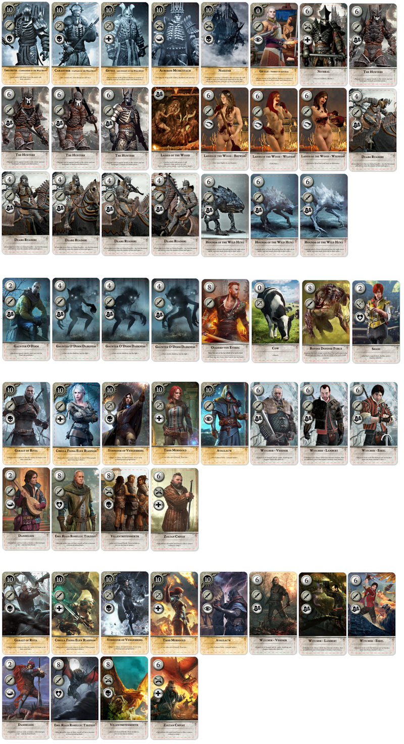 Witcher Gwent Extended Alternative Neutral Cards Game Card Design Witcher Art Cards