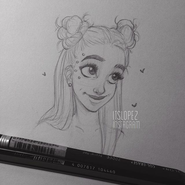 Space Buns A R T Itslopez Drawings Space Drawings
