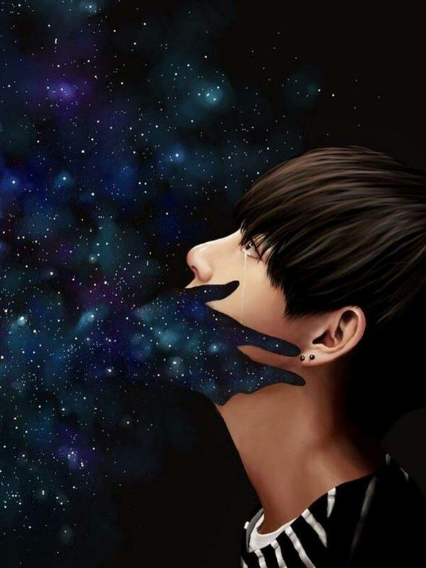 Tae// in the middle of the galaxy+