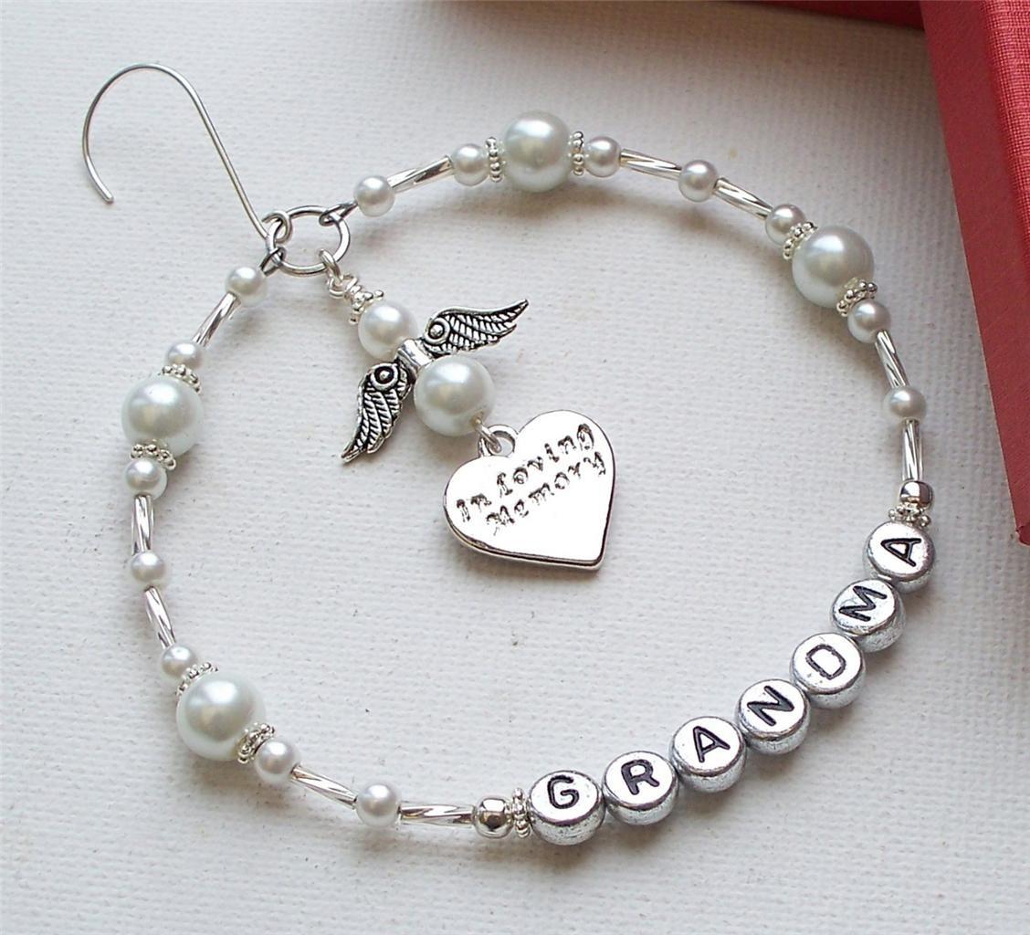 In memory of ornaments - D Tails Sur Personnalis In Loving Memory Angel Memorial Ornement D Coration Souvenir Afficher Le Titre D Origine