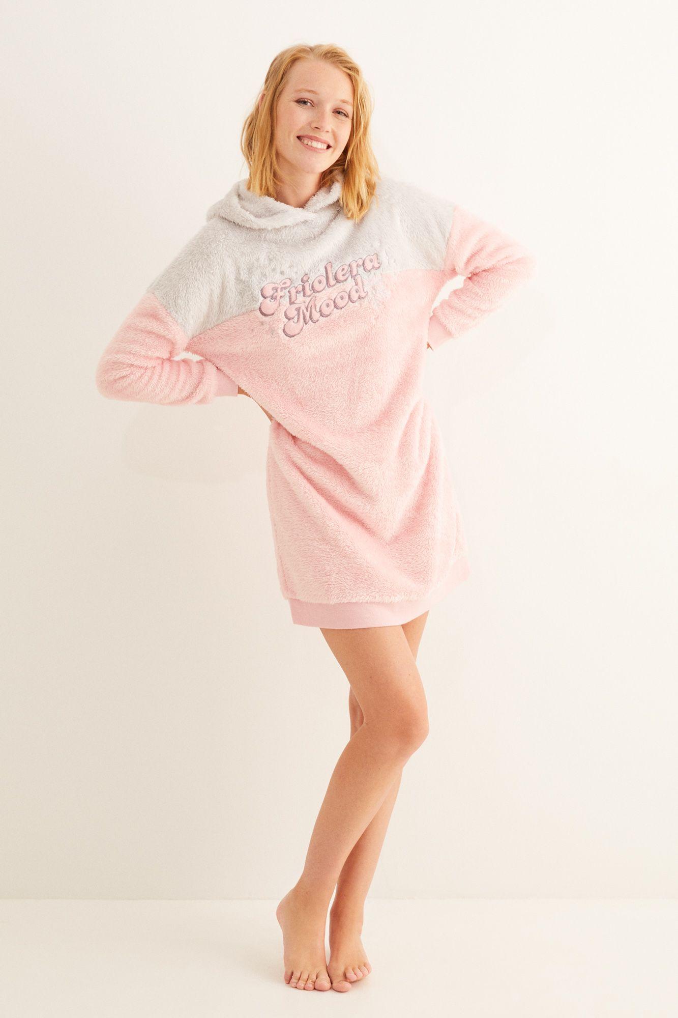 Pijama Largo Gris Algodón La Vecina Rubia Pijamas Largos Women Secret Camisones Paño Rosa Y Gris