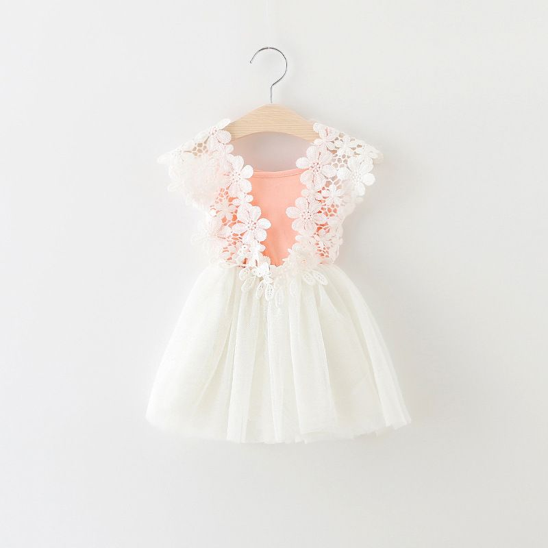 94f527237 2017 summer baby girl dress lace flower baby princess dress mesh ...