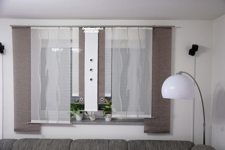 Moderne Schiebegardinen In 2020 Gardinen Wohnzimmer Modern