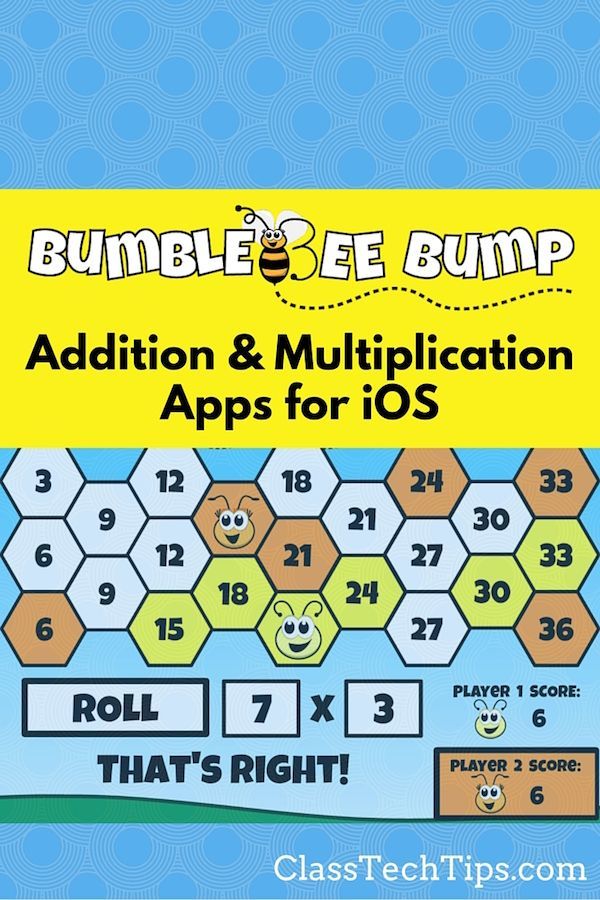 Bumblebee Bump Addition & Multiplication Apps for iOS   Math facts ...