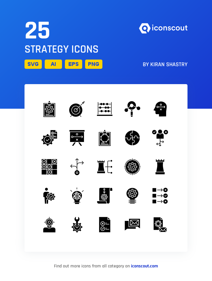 Download Strategy Icon Pack Available In Svg Png Eps Ai Icon Fonts Icon Pack Icon Icon Font