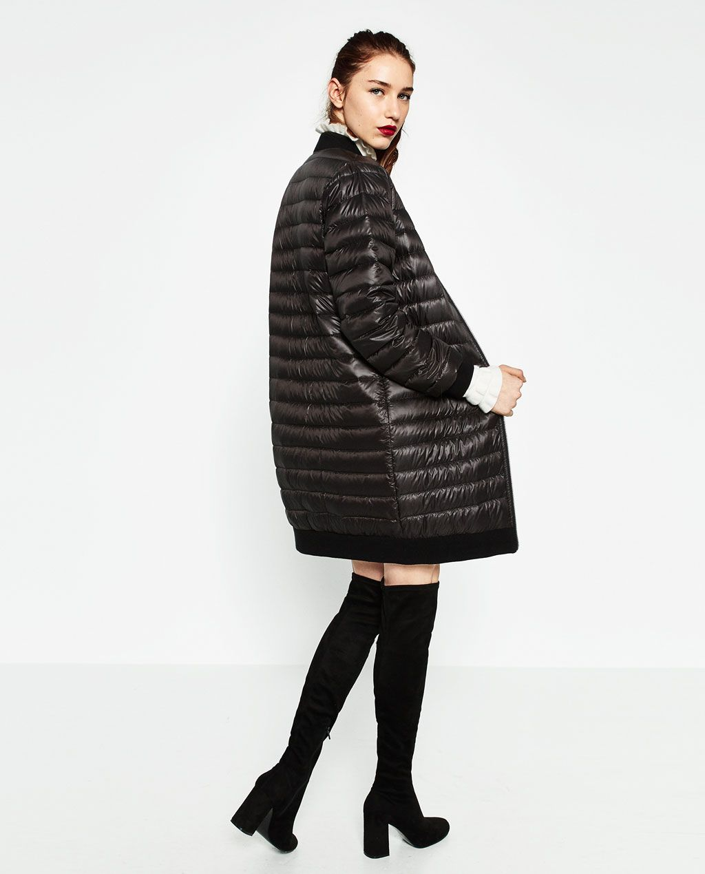 Image 4 of NEON QUILTED ANORAK from Zara