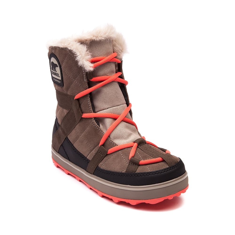 Womens Sorel Glacy Explorer Boot Brown Journeys Shoes Boots Sorel Womens Sensible Shoes