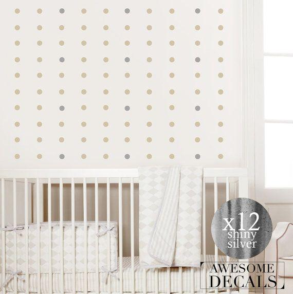 Gold Or Silver Polka Dots Wall Decal Polka Dots By AwesomeDecals - Wall decals polka dots