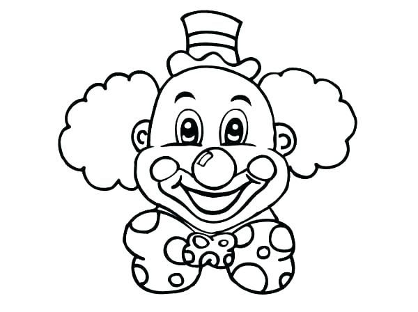 clown face coloring page clowns
