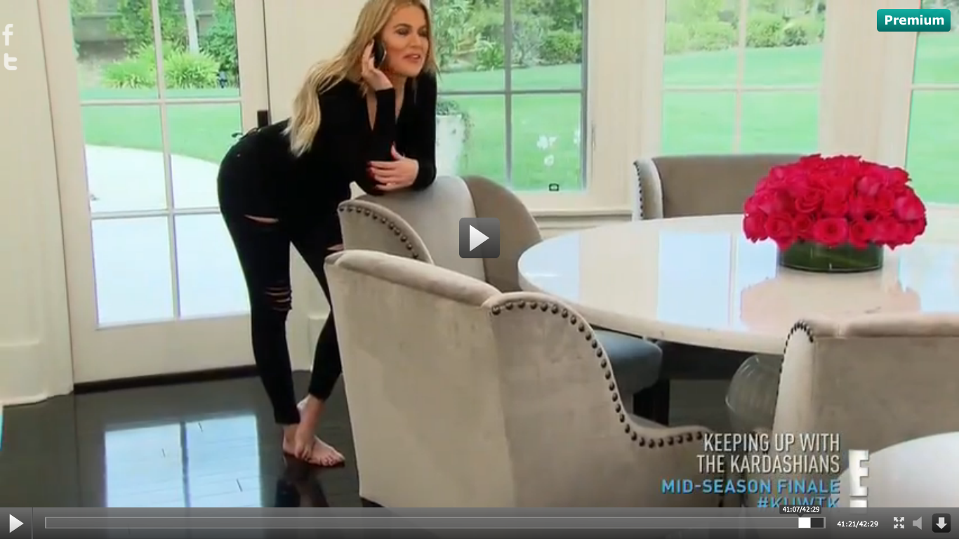 Khloe kardashian kitchen love the dark wood floors grey - Kourtney kardashian kitchen chairs ...