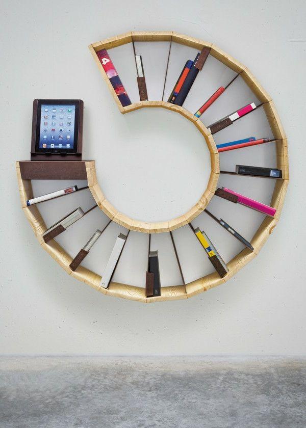runde Bücherregal Ecke