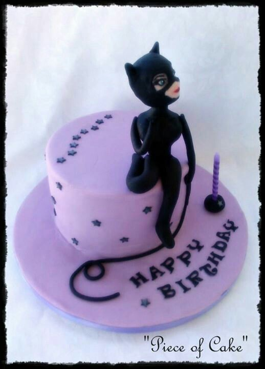 Catwoman cake Piece of Cake Pinterest Cake