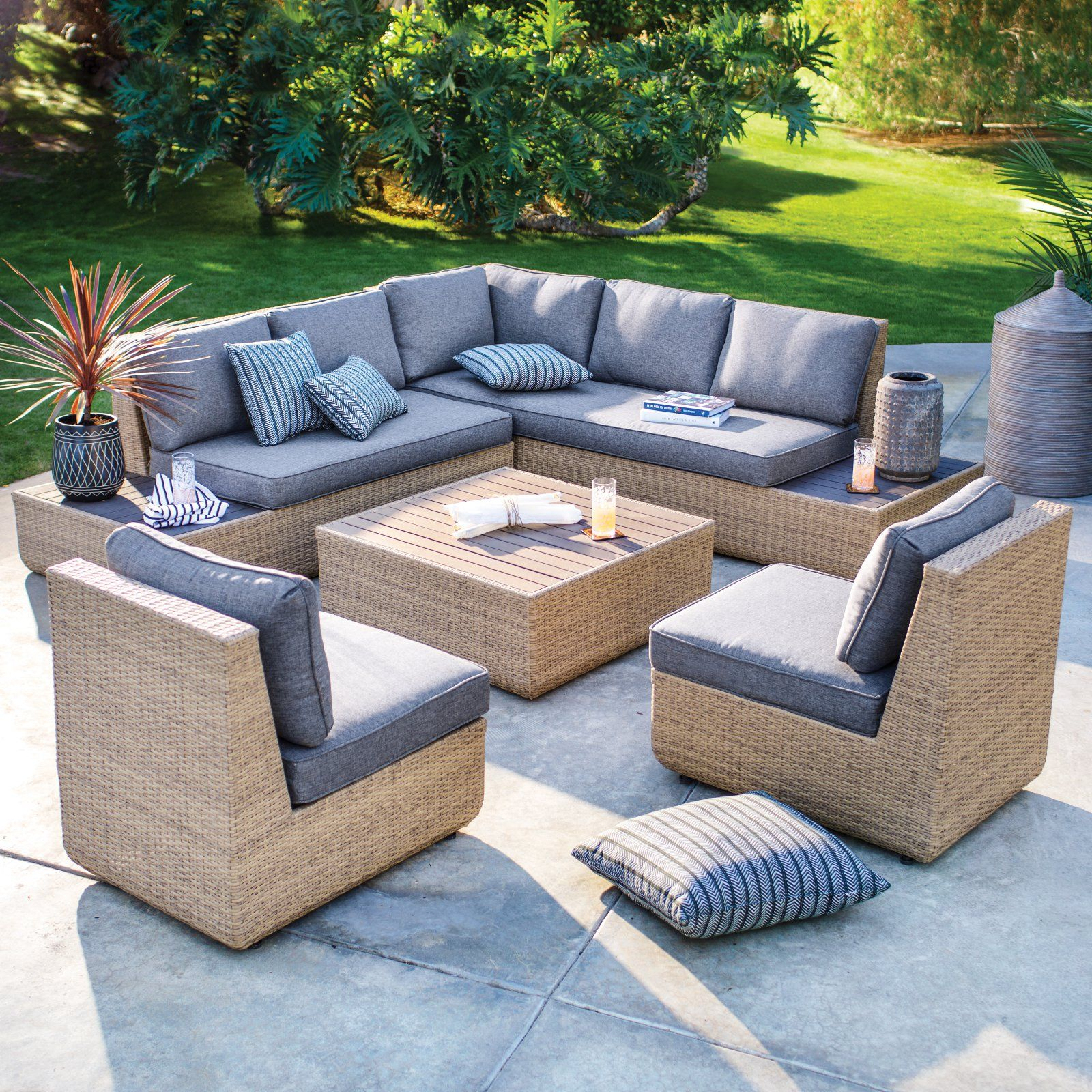 Outdoor Belham Living Luciana Villa All-Weather 5-Piece ... on Outdoor Living Wicker id=51301