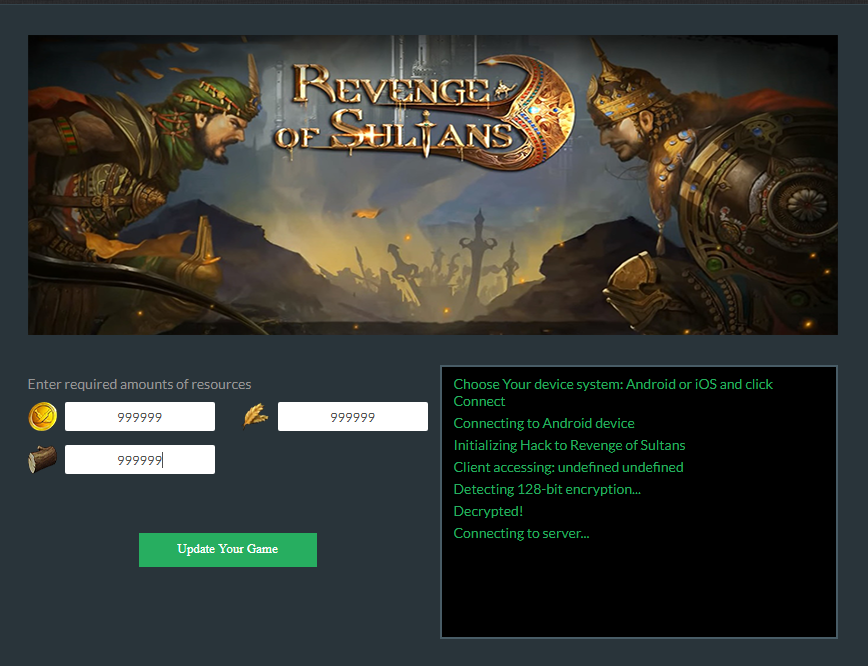 Revenge of Sultans Hack and Cheats Online Generator for Android ...
