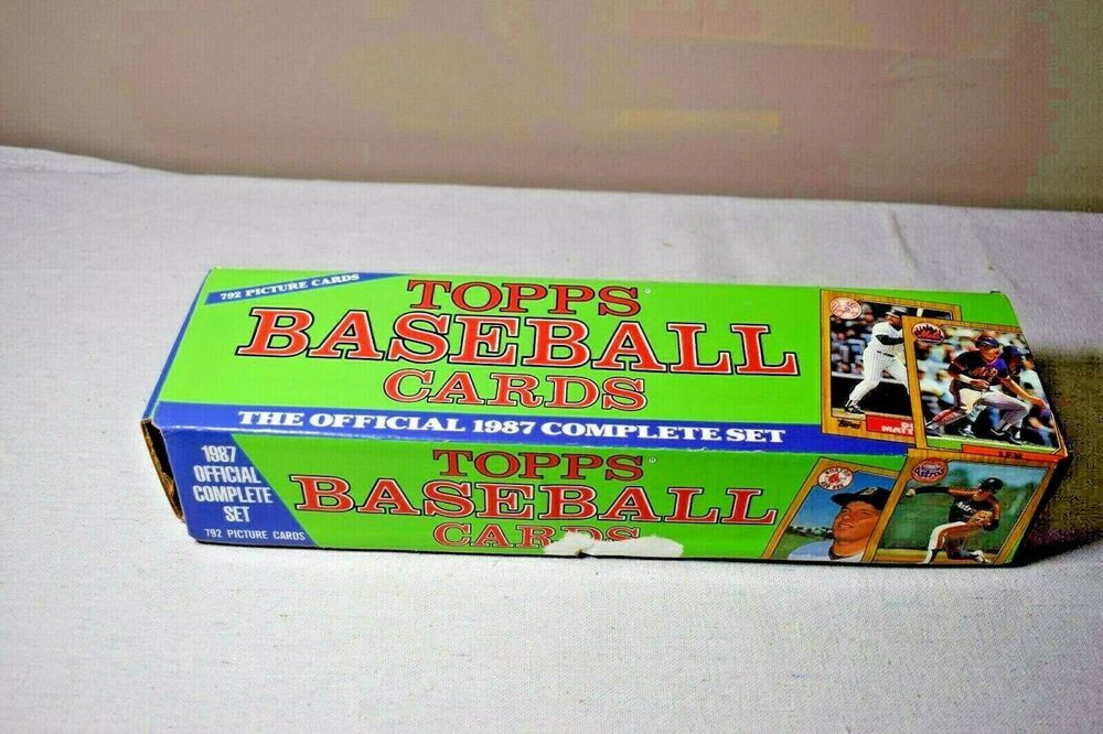 1987 topps baseball complete factory set 792 cards colored