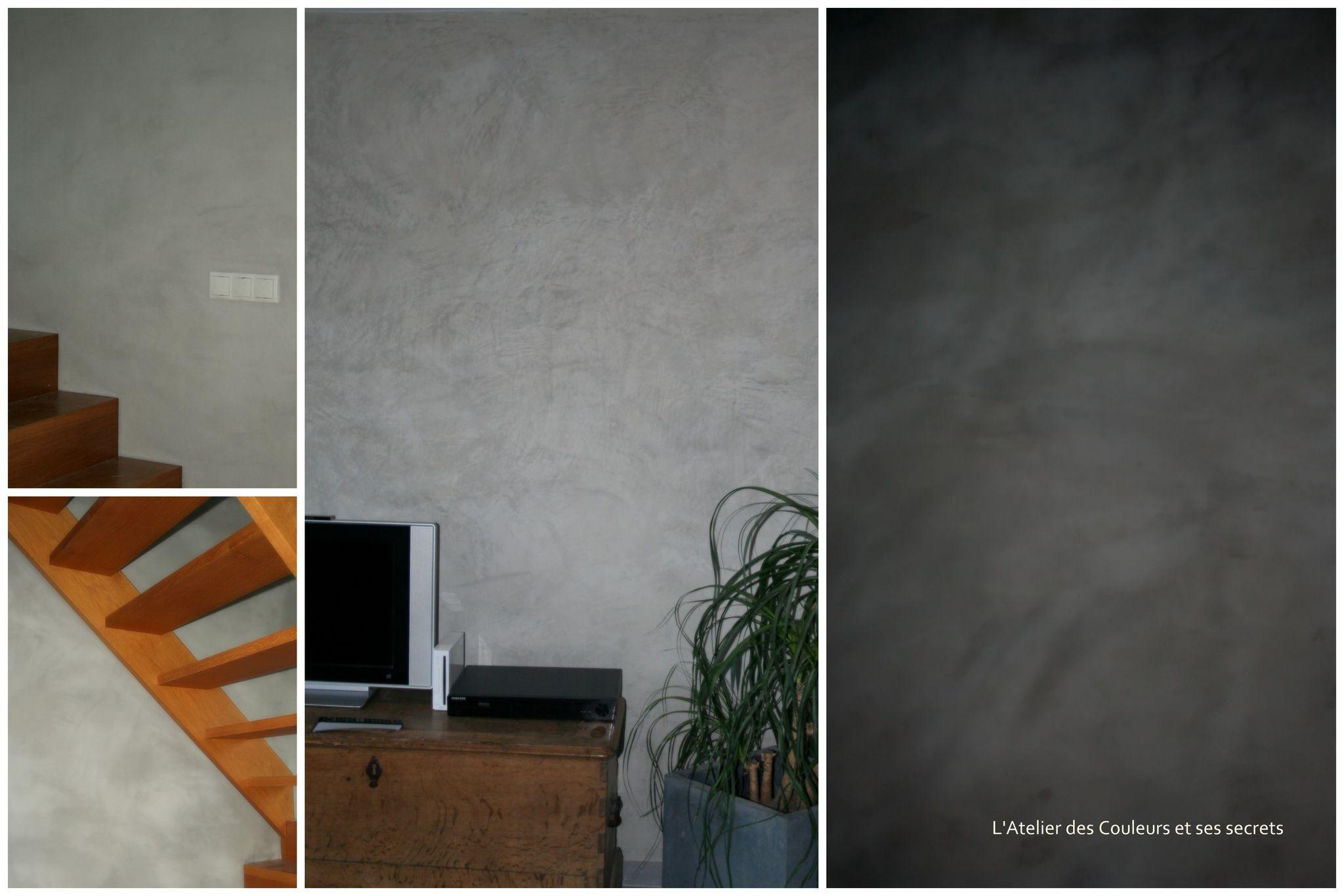 Badigeon chaux gris terre de cassel mes r alisations - Badigeon a la chaux ...