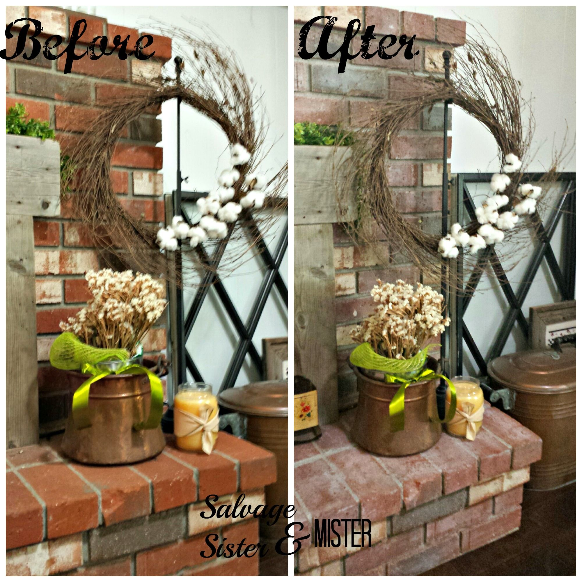 Whitewash Fireplace DIY Dark Paint and Easy diy