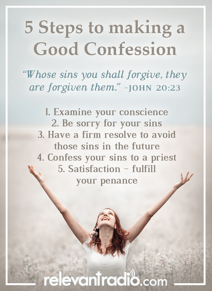 5 Steps To Becoming Wealthy: 5 Steps To A Good Confession