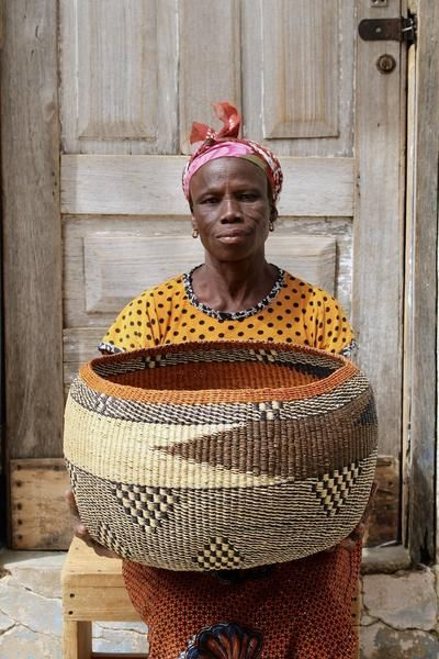 Home Decor - African Woven Basket handmade in Bolga by artisan weavers. Ethically sourced and fairly traded authentic African Baskets | Baba Tree Basket Co.