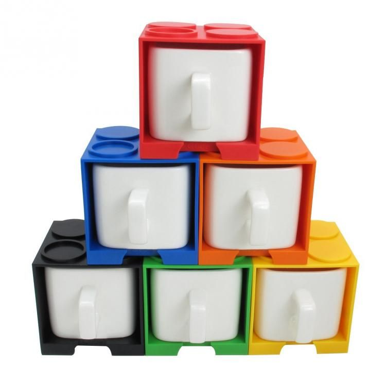 Cube Shaped Square Lego Coffee Mug