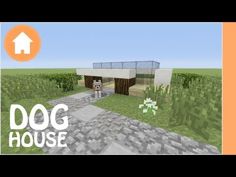Minecraft Tutorial Dog House Tutorial Dog House Minecraft Dog