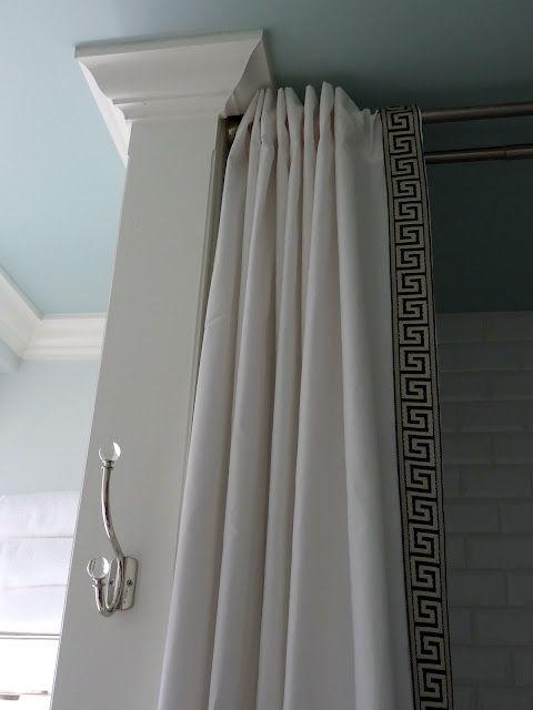 Diy Shower Curtain In 2020 Diy Shower Curtain Long Shower Curtains Diy Curtains