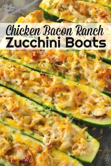 265712446751179367 Chicken Bacon Ranch Low Carb Zucchini Boats Recipes
