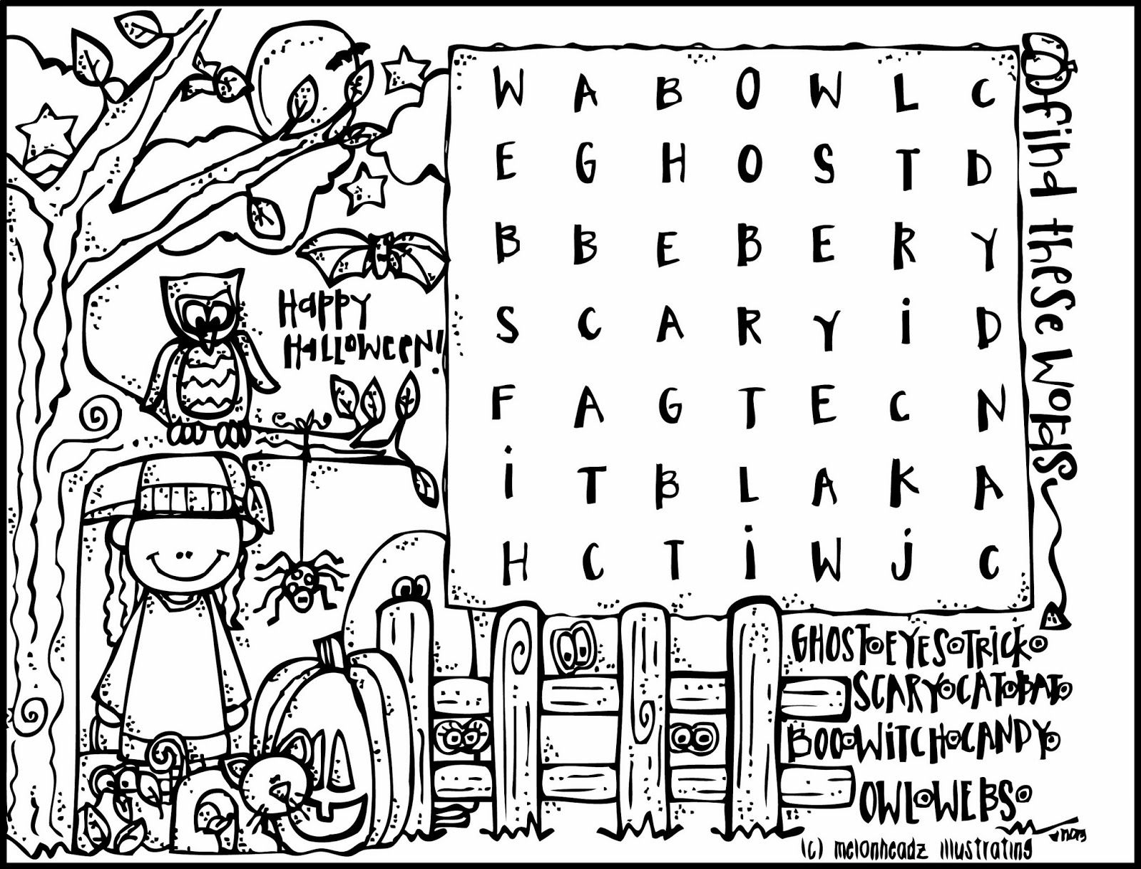 halloween+coloring+page+(c)+melonheadz+13+bw.jpg (1600×1219 ...