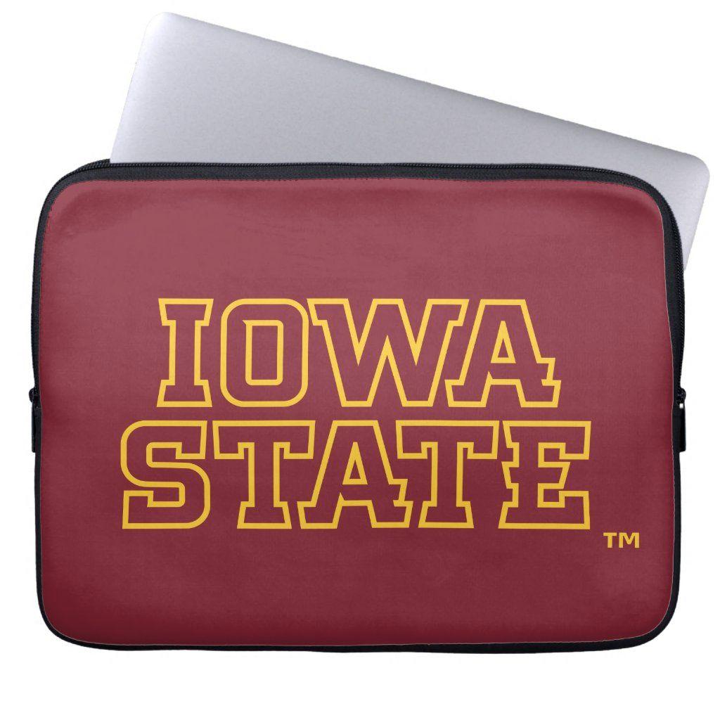 Iowa State University Block Design Laptop Sleeve Size: Neoprene Laptop Sleeve 13 inch. Gender: unisex. Age Group: adult. Pattern: check.