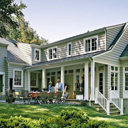 Cape Cod Family Room Addition | porch + patio. | excellent exteriors.