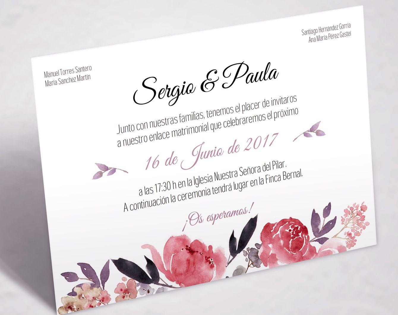 Tarjeta de boda imprimible imprimible sweet emotion - Tarjeta de boda ...