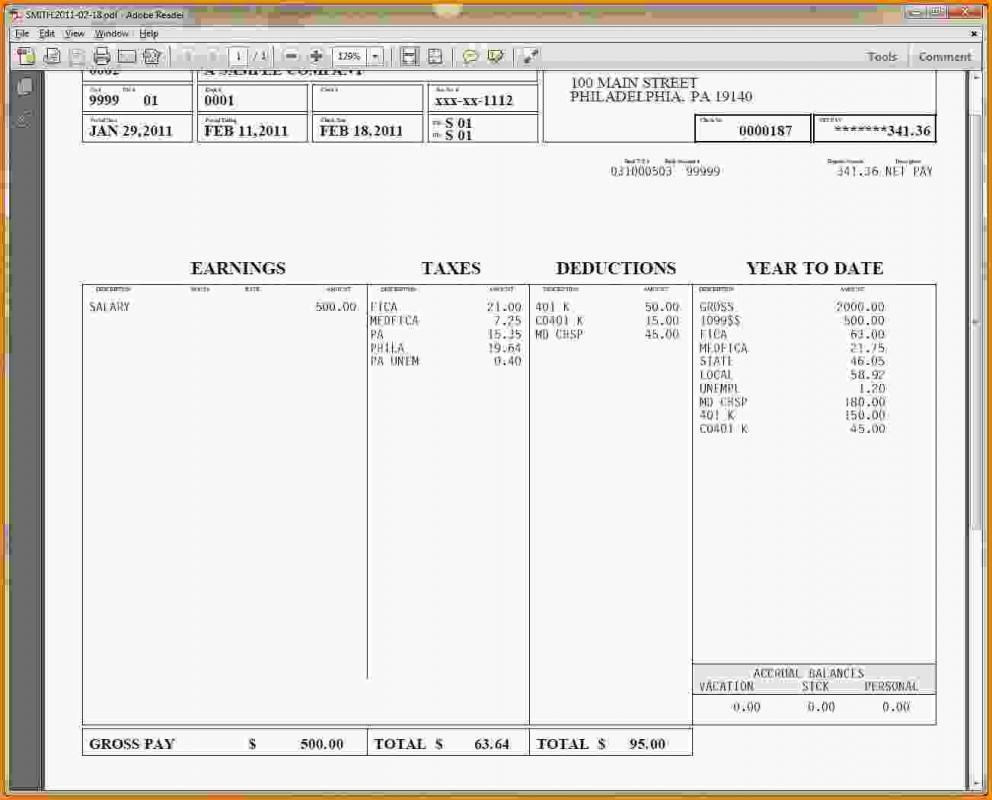 Pay Stub Template Free Word free, Word template, Payroll