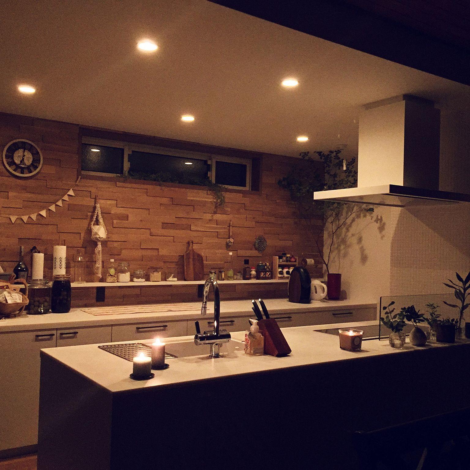 キッチン キャンドル ダウンライト 電球色 二世帯住宅 などの