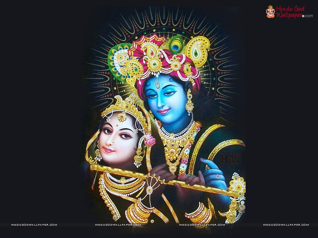 Shree Krishna Black Wallpaper For Desktop Black God And Godess