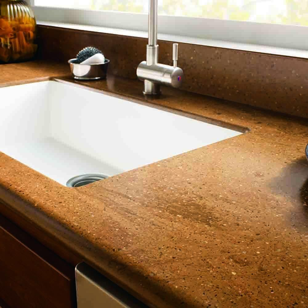 Website With Photo Gallery Solid Surface Countertop Sample in Cinnabar C CI The