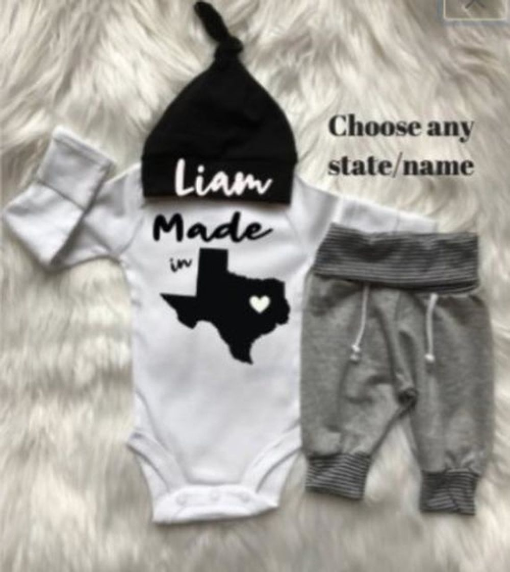 Photo of Newborn Boy Coming Home Outfit/Baby Shower gift | UnwindTrip Clothing