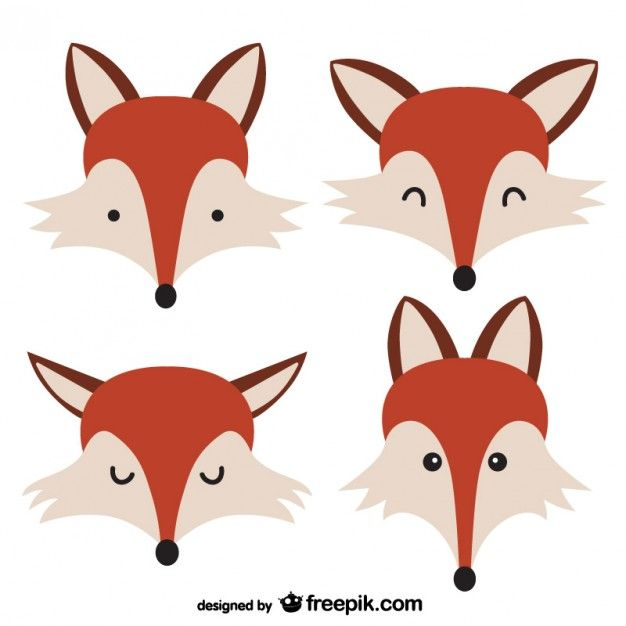 Rostos Fox | Face drawings, Clip art and Graphics