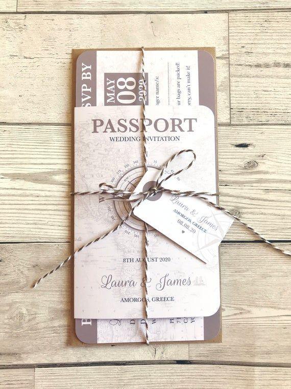 Invitation de mariage de passeport, voyage Vintage, Boarding Pass invite, mariage à létranger, destination mariage, mariage de voyage, échantillon