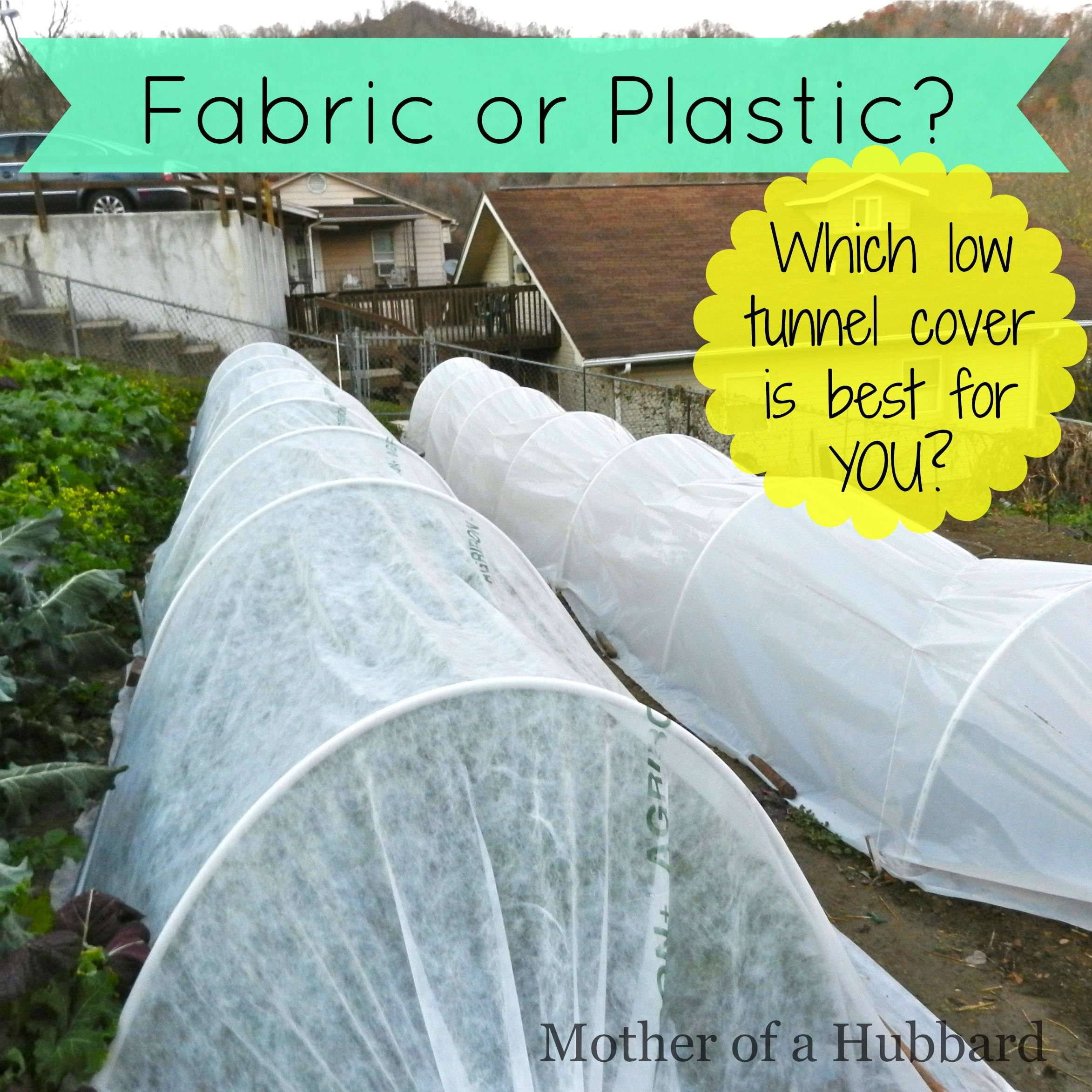 Fabric, or plastic? That's one of the most common
