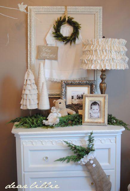 Creams And Tans Baby Room Decor Dear Lillie White Christmas Decor Lillie and lola christmas rooms