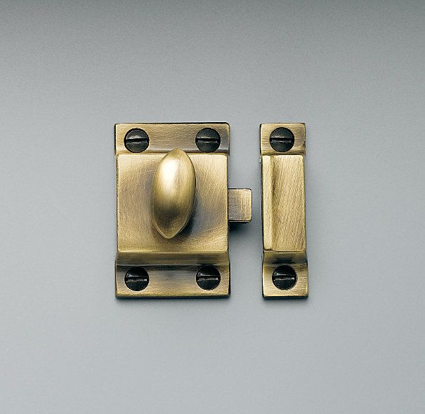 Utility Latches In Antique Brass From Restoration Hardware