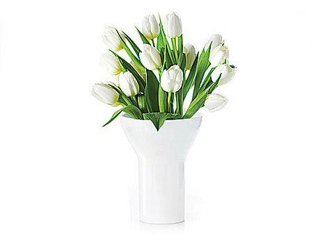 asa selection tulip vase 23cm weiss glanz interior accessoires pinterest. Black Bedroom Furniture Sets. Home Design Ideas