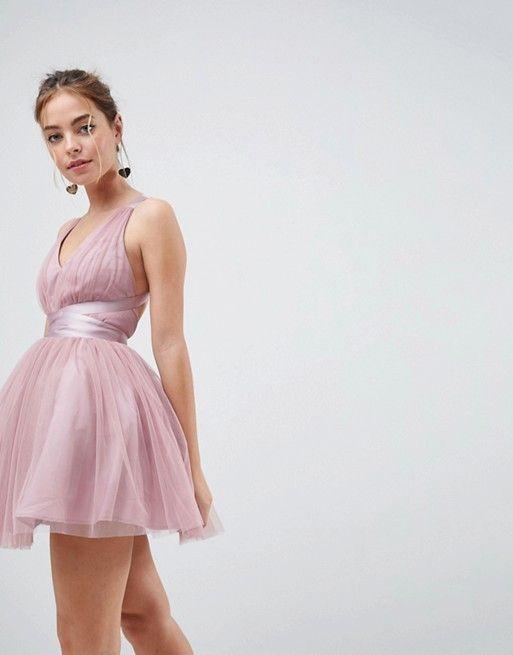 petite premium robe courte de bal de promo en tulle avec. Black Bedroom Furniture Sets. Home Design Ideas